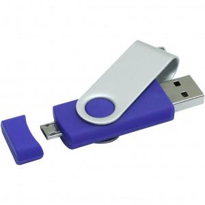 Rotate pendrive on-the-go, kék, 16GB (raktári)