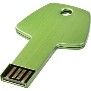 Kulcs pendrive, zöld , 4GB (raktári)