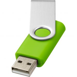 Rotate Basic pendrive, világoszöld, 368C, 16GB (raktári)